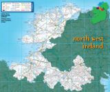 North West Ireland map